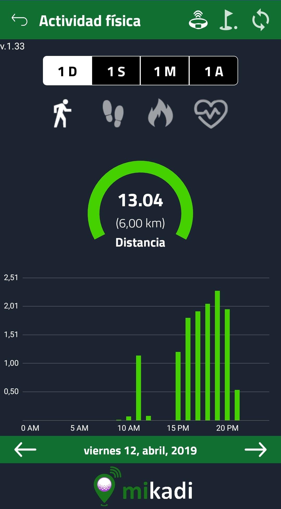 Reloj de golf con monitor de actividad
